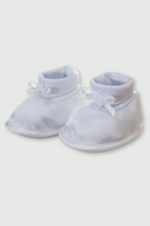 Satenske papučice za krštenje (djevojčice)