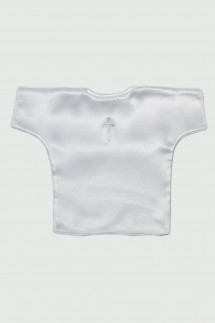 Satenska benkica za krštenje sa srebrnim križem
