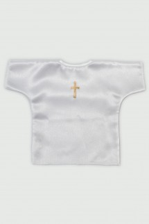 Satenska benkica za krštenje sa zlatnim križem