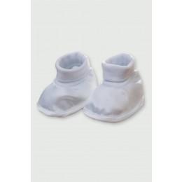 Satenske papučice za krštenje (dječaci)