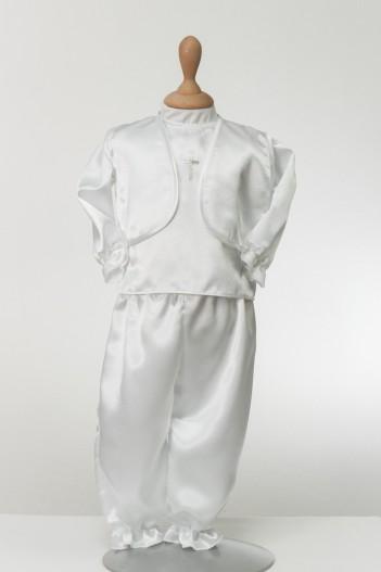 Odijelo za krštenje David sa srebrnim križem