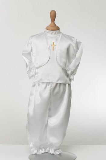 Odijelo za krštenje David sa zlatnim križem